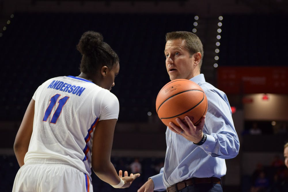 """<p dir=""""ltr""""><span>Arkansas State defeated the Gators, 70-69, in the O'Connell Center on Tuesday night.</span>It was the first loss at UF for new coach Cameron Newbauer, who Florida hired on March 27 to fix an underperforming women's basketball program.</p>"""