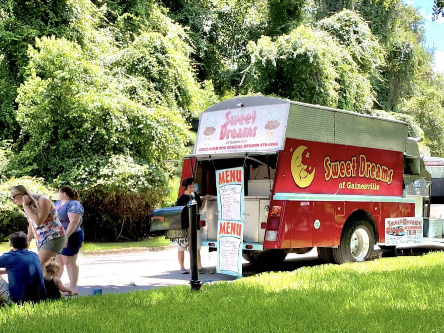 Starting last month, Sweet Dreams began its neighborhood ice cream truck tours in hopes of spreading the word about fully reopening again. (Courtesy to The Alligator)