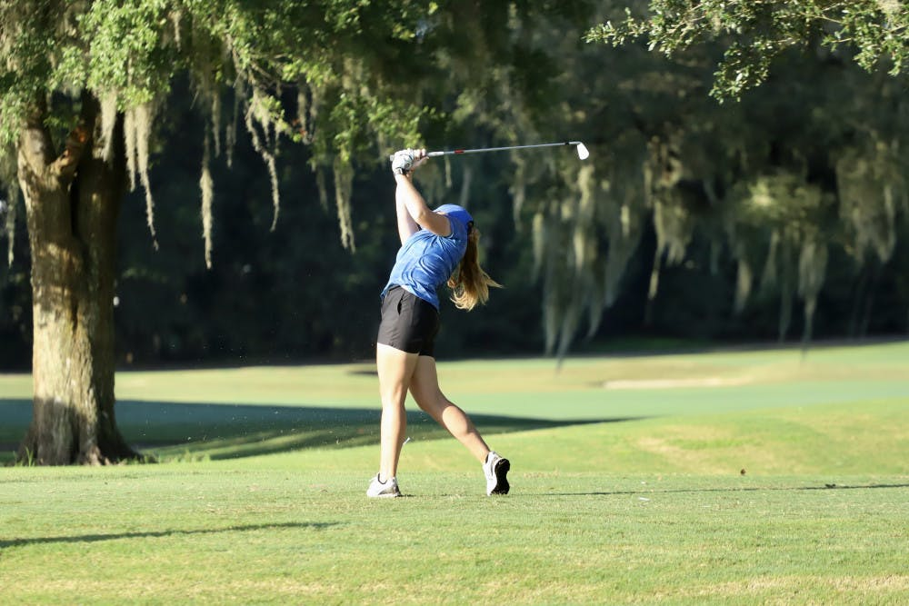 <p>The Gators fell six spots in the team rankings during the second day of competition at The Ally at Old Waverly.</p>