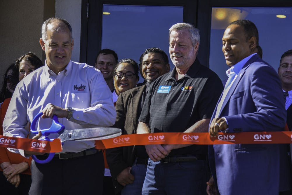 <p>After over a year of anticipation, Newk's Grand Opening Celebration was held Friday. The event featured a ribbon-cuting ceremony with the Chamber of Commerce, free giveaways and performances from UF cheerleaders along with UF mascots Albert and Alberta.</p>