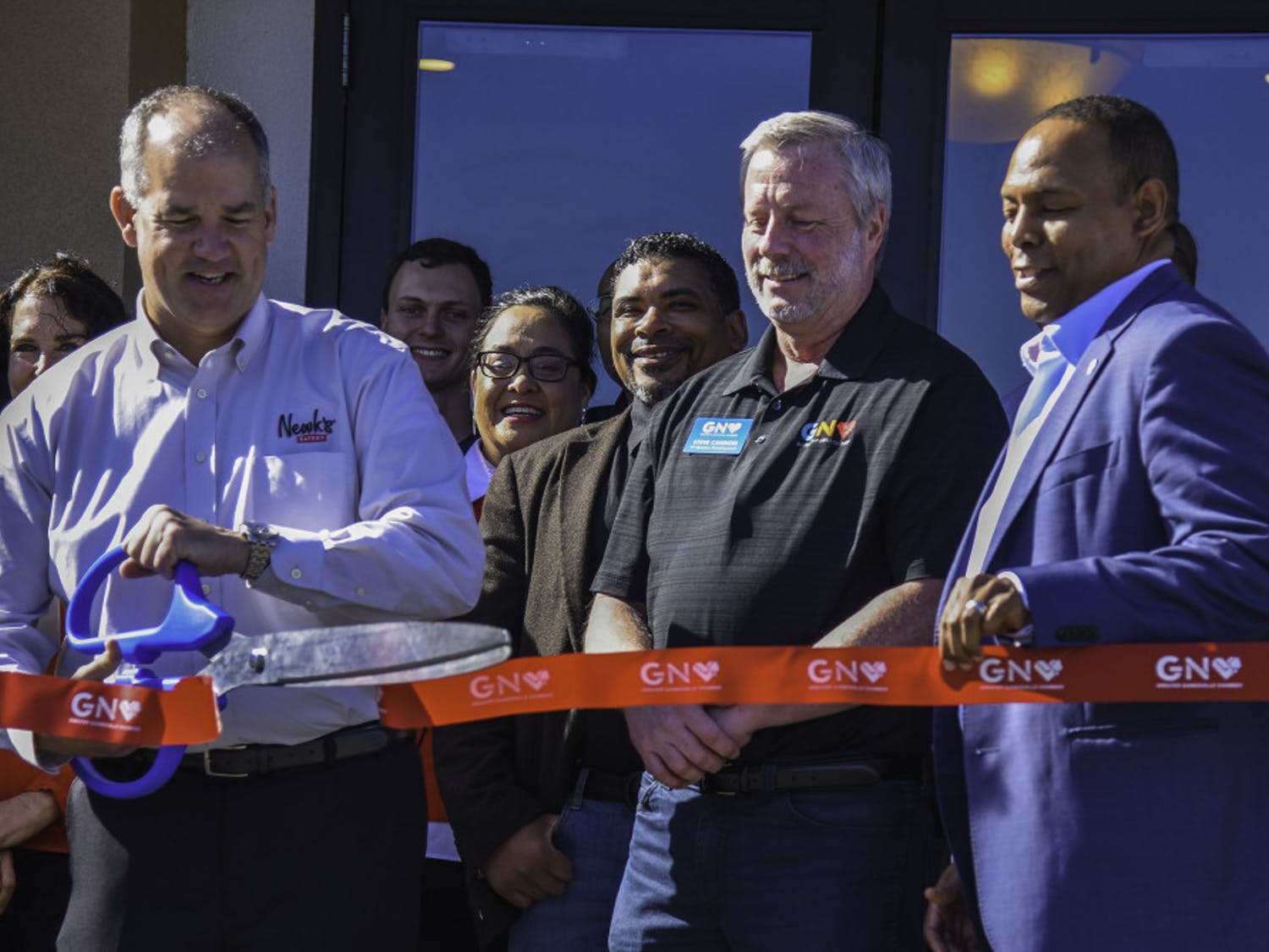 After over a year of anticipation, Newk's Grand Opening Celebration was held Friday. The event featured a ribbon-cuting ceremony with the Chamber of Commerce, free giveaways and performances from UF cheerleaders along with UF mascots Albert and Alberta.