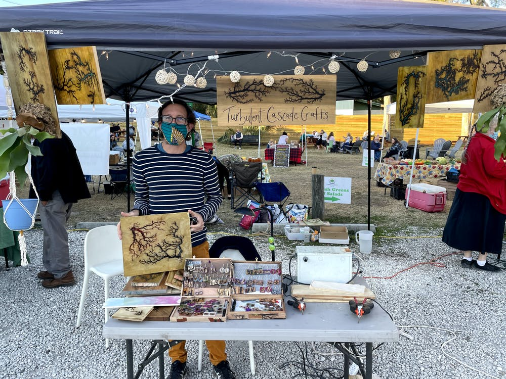 Chris DiScenza began selling his art at local markets in December 2020.