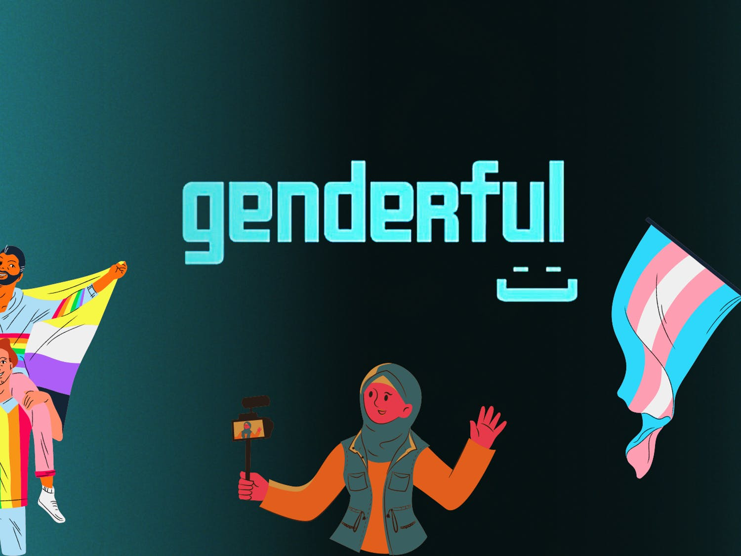 Genderful Toolkit, an online video series for gender-nonconforming individuals to share their personal stories about their identities, intends to increase representation for the gender-nonconforming community as well as educate the cis-gendered population on the lives of gender-nonconforming people.
