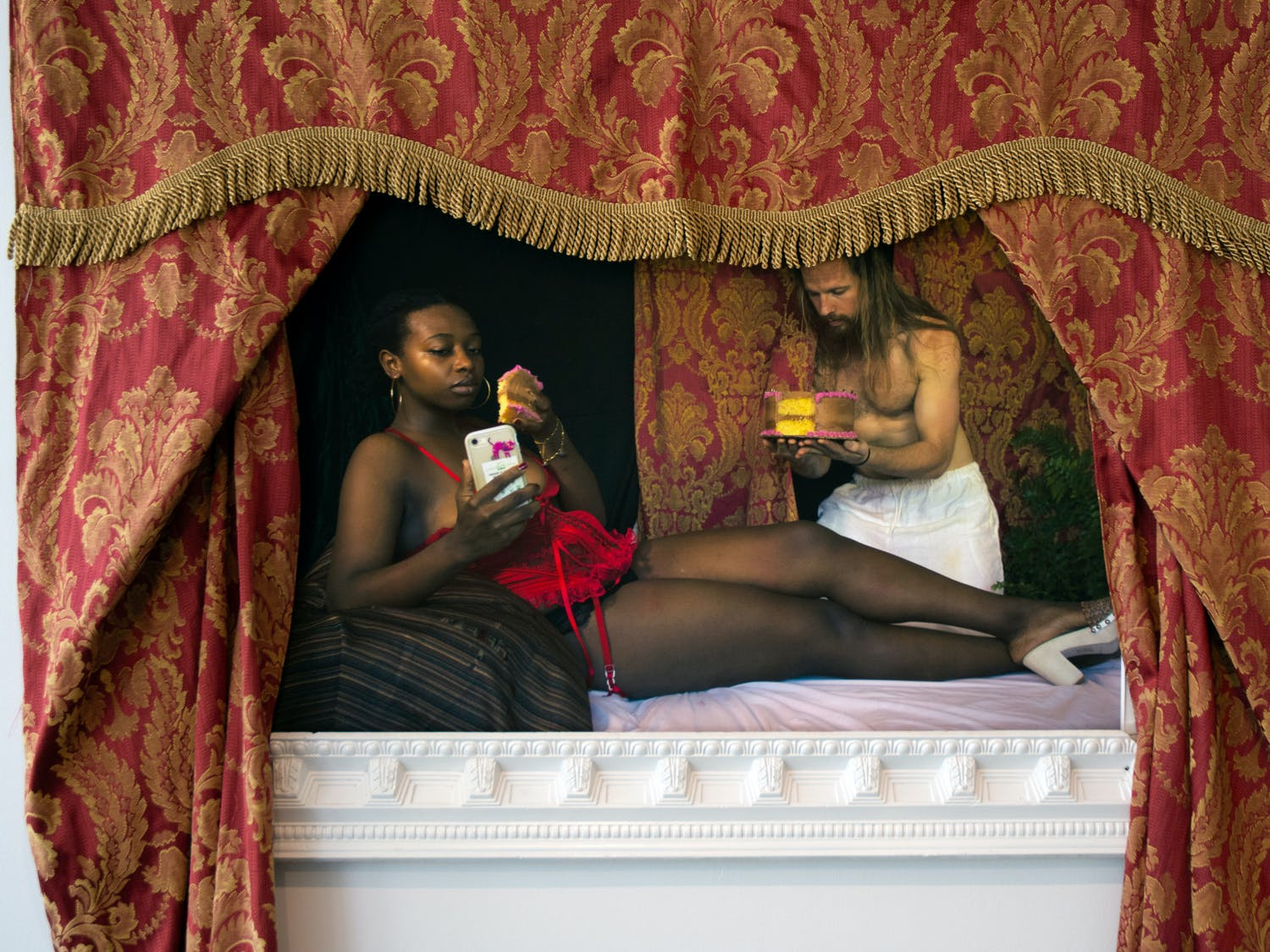 """""""It Ain't About You Boo"""" by Keiaria Williams sits near the entrance of the UMOJA exhibit at the Gainesville Fine Arts Association on Wednesday, June 9, 2021. The UMOJA exhibit is a celebration of Black art that will occupy the entire exhibition space at the GFAA until June 19."""