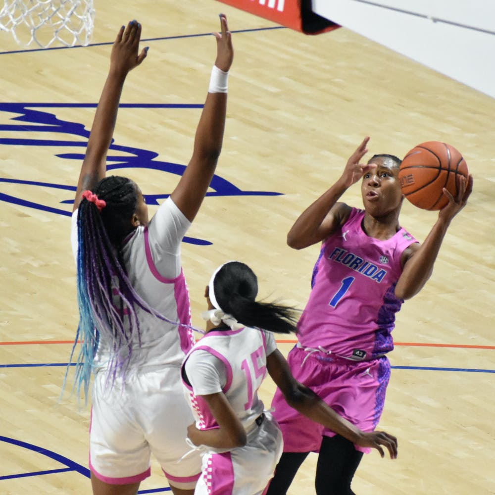 Star guard Kiara Smith led the Gators with 23 points while recording her sixth double-double season Monday night.