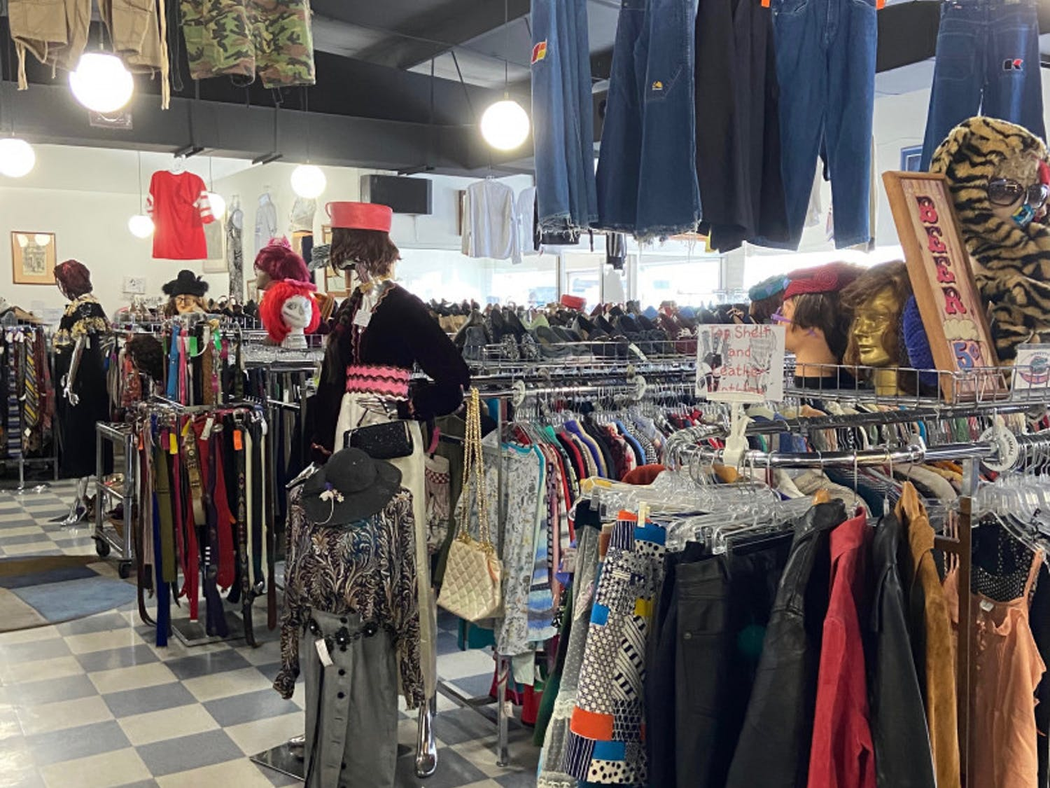 The Gainesville thrift store, Flashbacks Recycled Fashions, located at220 NW 8th Ave., has seen a surprising burst in customers wanting to expand their style following this year's COVID-19 pandemic shut downs.