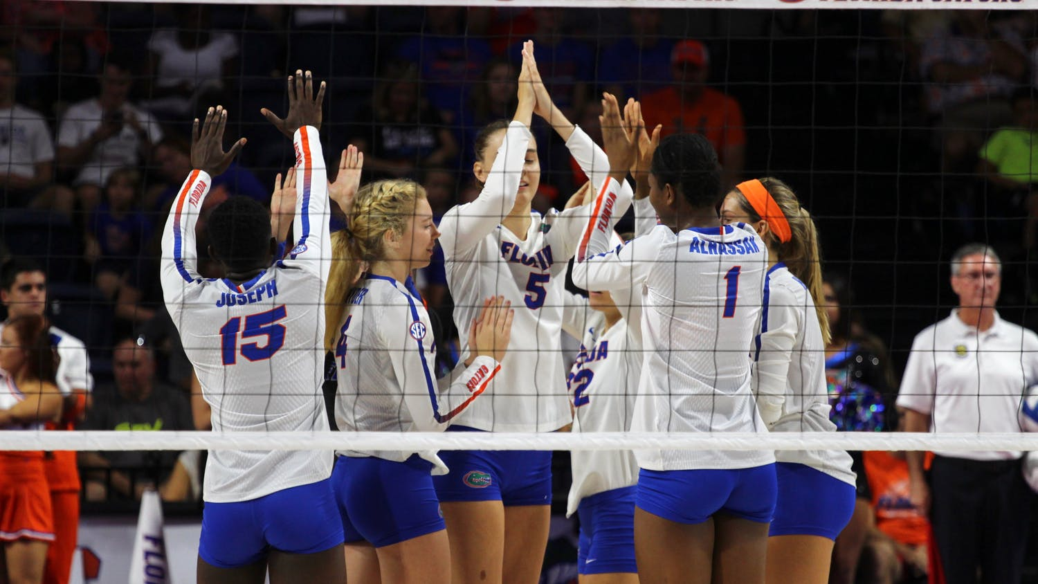 The UF volleyball team advanced to the national title game for the second time under coach Mary Wise. The Gators played thrillers against Southern California (Dec. 9) and Stanford (Dec. 14) to advance to the championship game.