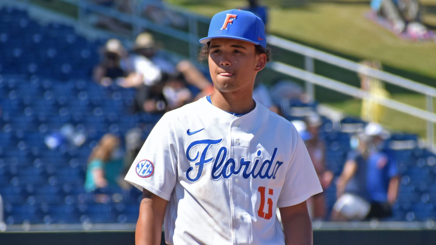 Butler doubled into the left-center gap before left fielder Sterlin Thompson drove an RBI-single into the same vicinity of the outfield. Photo from UF-Jacksonville game March 14.