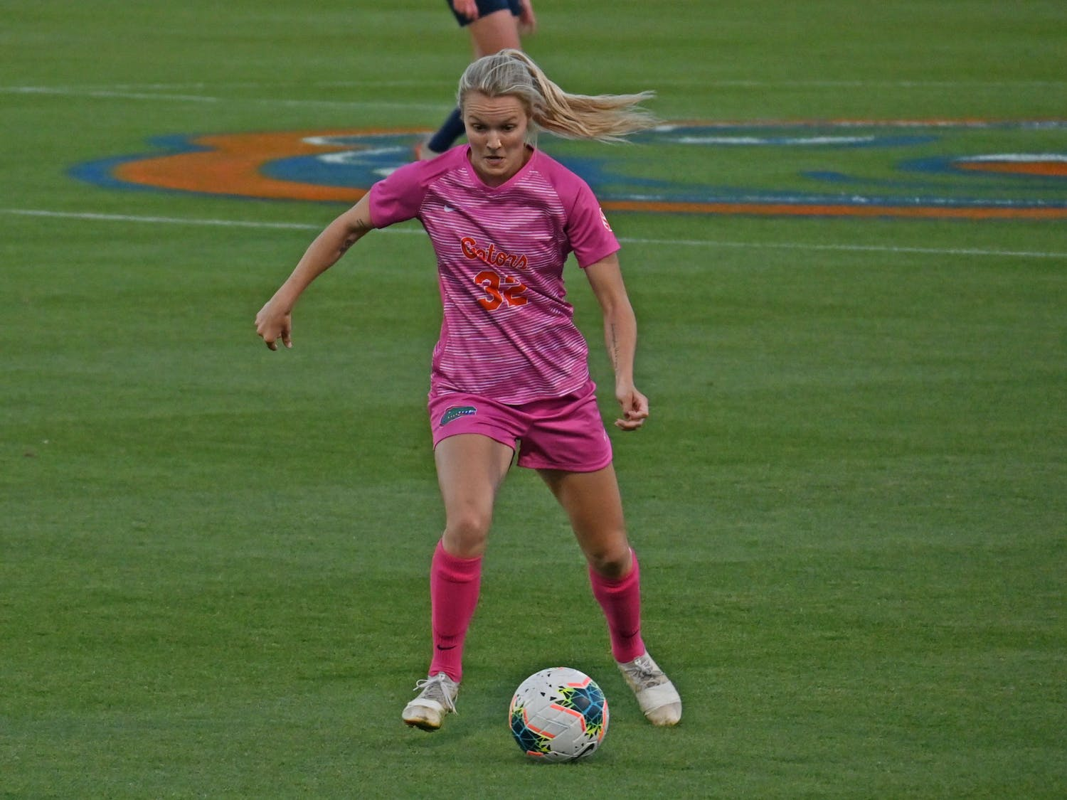 UF outshot the Tigers, 6-4 in the first and 7-4 in the second in both halves. Photo from UF-Georgia Southern game March 11.
