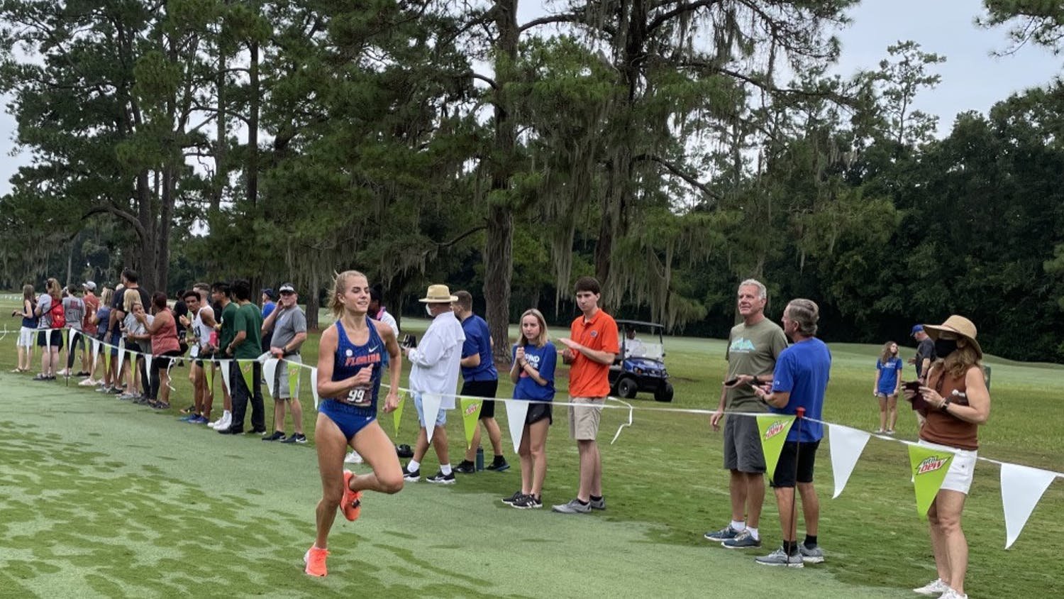 Florida's Parker Valby competes during the Mountain Dew Invitational in Gainesville on Sept. 11