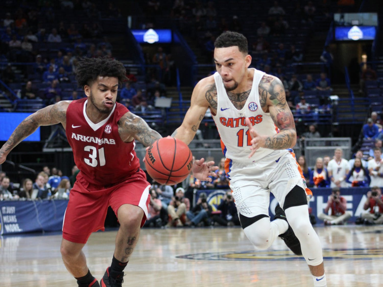 """The Florida men's basketball team will attempt to use last season's 77-70 loss to South Carolina in the Elite Eight to propel it on another impressive showing at the NCAA Tournament.""""We have pieces that have been here,"""" UF guard Chris Chiozza said."""