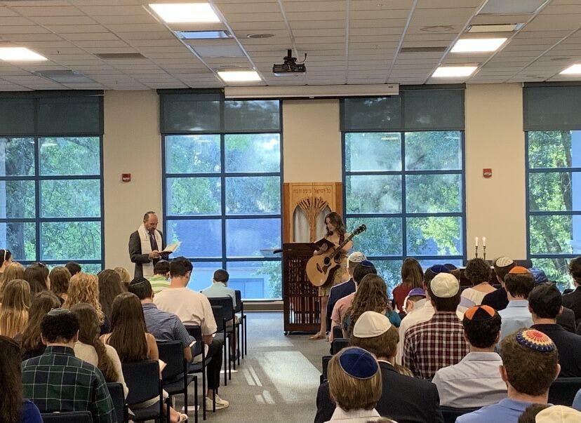 Photo of Yom Kippur services at UF Hillel in 2019