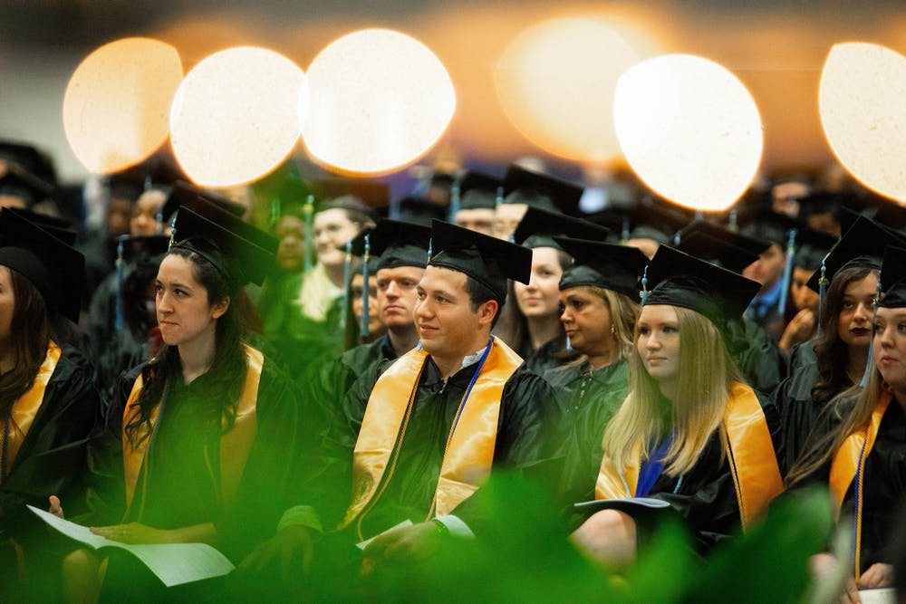 <p>Photo of Santa Fe College commencement from Fall 2019 [Courtesy of Matt Stamey]</p>