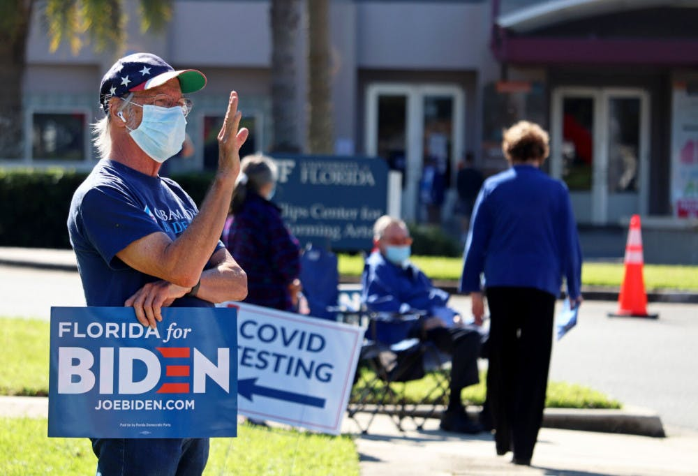 <p><span><span><span>The Phillips Center for the Performing Arts had&nbsp;</span></span>Election Day voting and drive-thru COVID testing&nbsp;on Tuesday, Nov. 3, 2020 in Gainesville, Fla.</span></p>