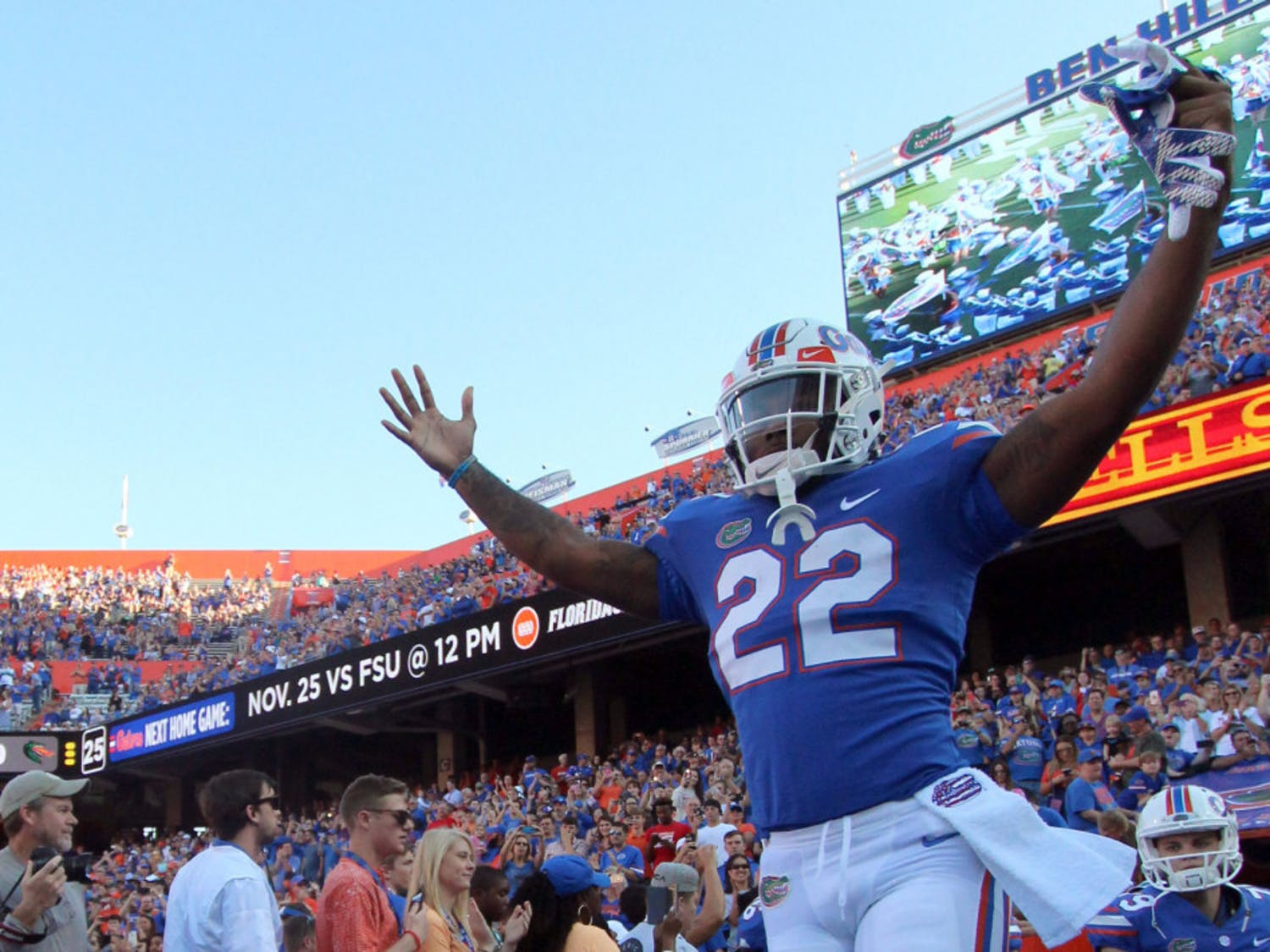 """The Gators haven't beaten the Seminoles since 2012, meaning both last year's and this year's seniors never did.""""We just want to send those guys out with a good win,"""" sophomore running back Lamical Perine said. """"There's going to be a whole lot of fans coming out for that game. It's going to be a nice game."""""""