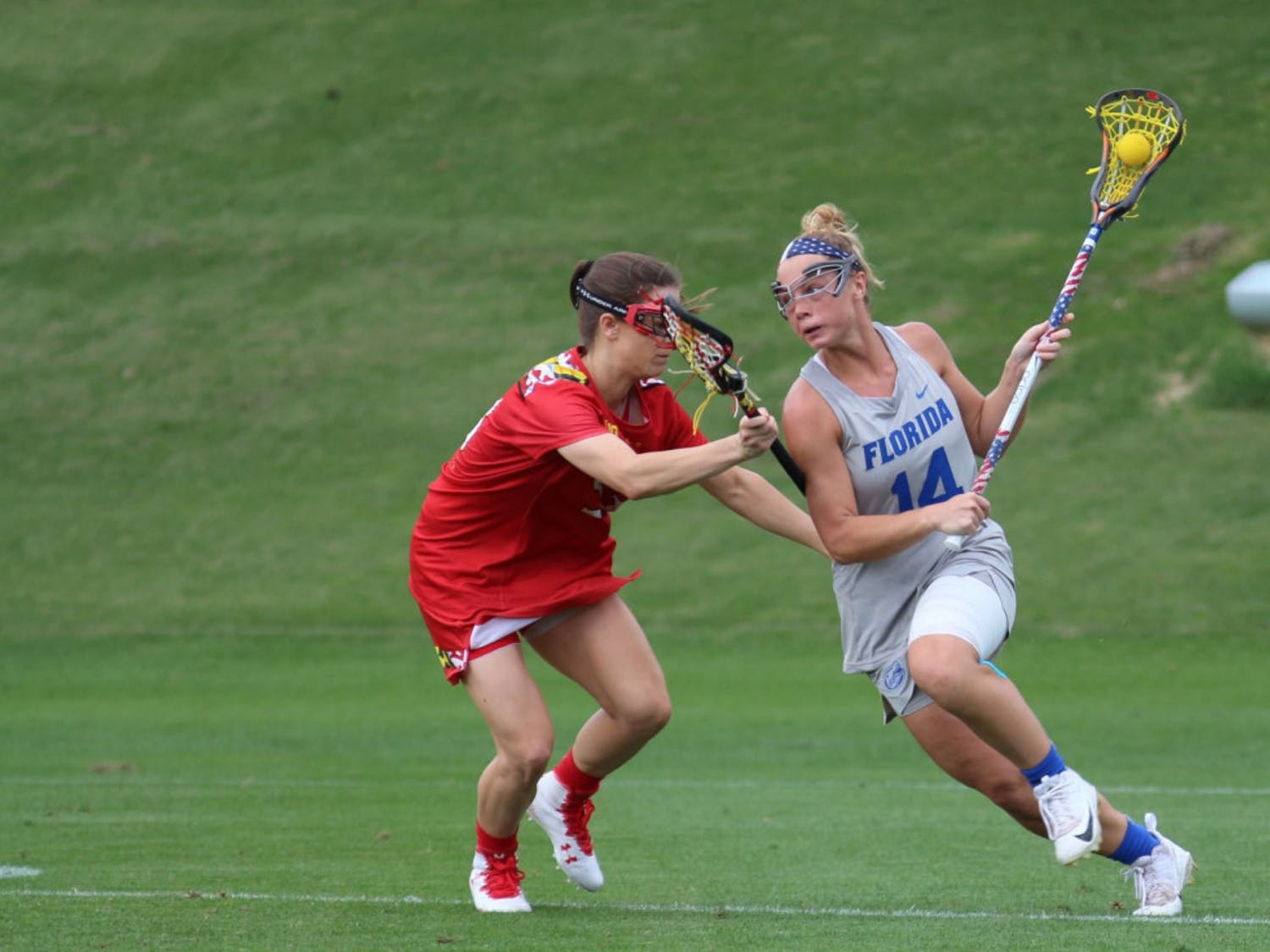 Senior attacker Lindsey Ronbeck scored two goals and had two assists in the Gators' 11-9 loss to North Carolina on Saturday.