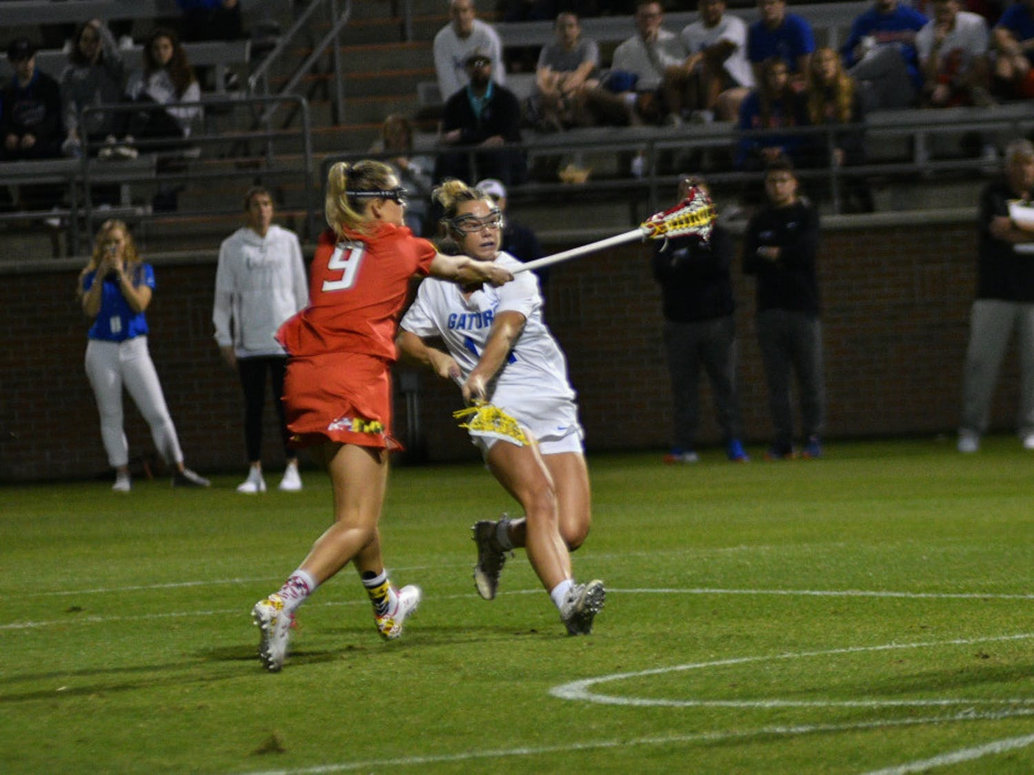 Attacker Lindsey Ronbeck scored three goals in Florida's win over Temple on Saturday.