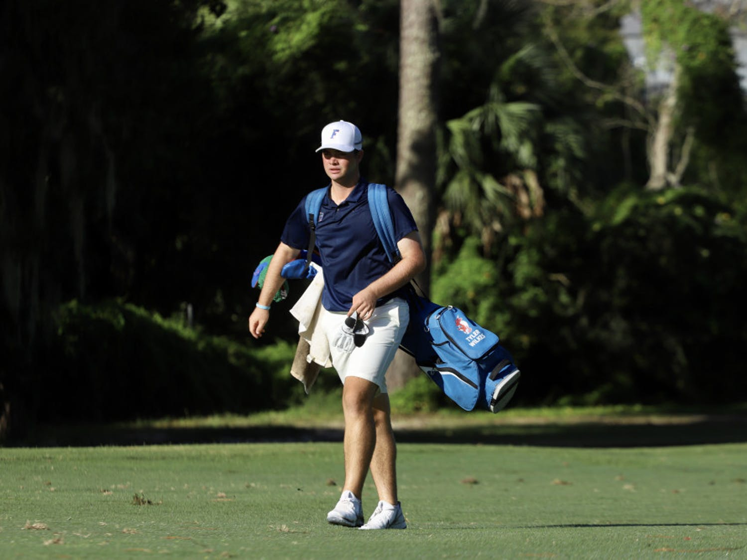 Freshman Tyler Wilkes practices at Mark Bostick Golf Course. Through a day of competition at theGators Invitational, Wilkes shot a 65, his lowest ever score as a Gator