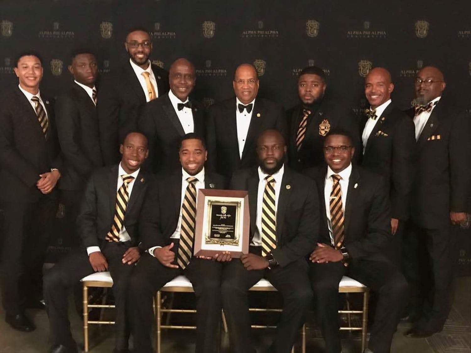 The brothers of the Theta Sigma chapter of the Alpha Phi Alpha Fraternity attended the international conference in Baltimore on July 16. They won chapter of the year for the second time, with the first time being in 2010.