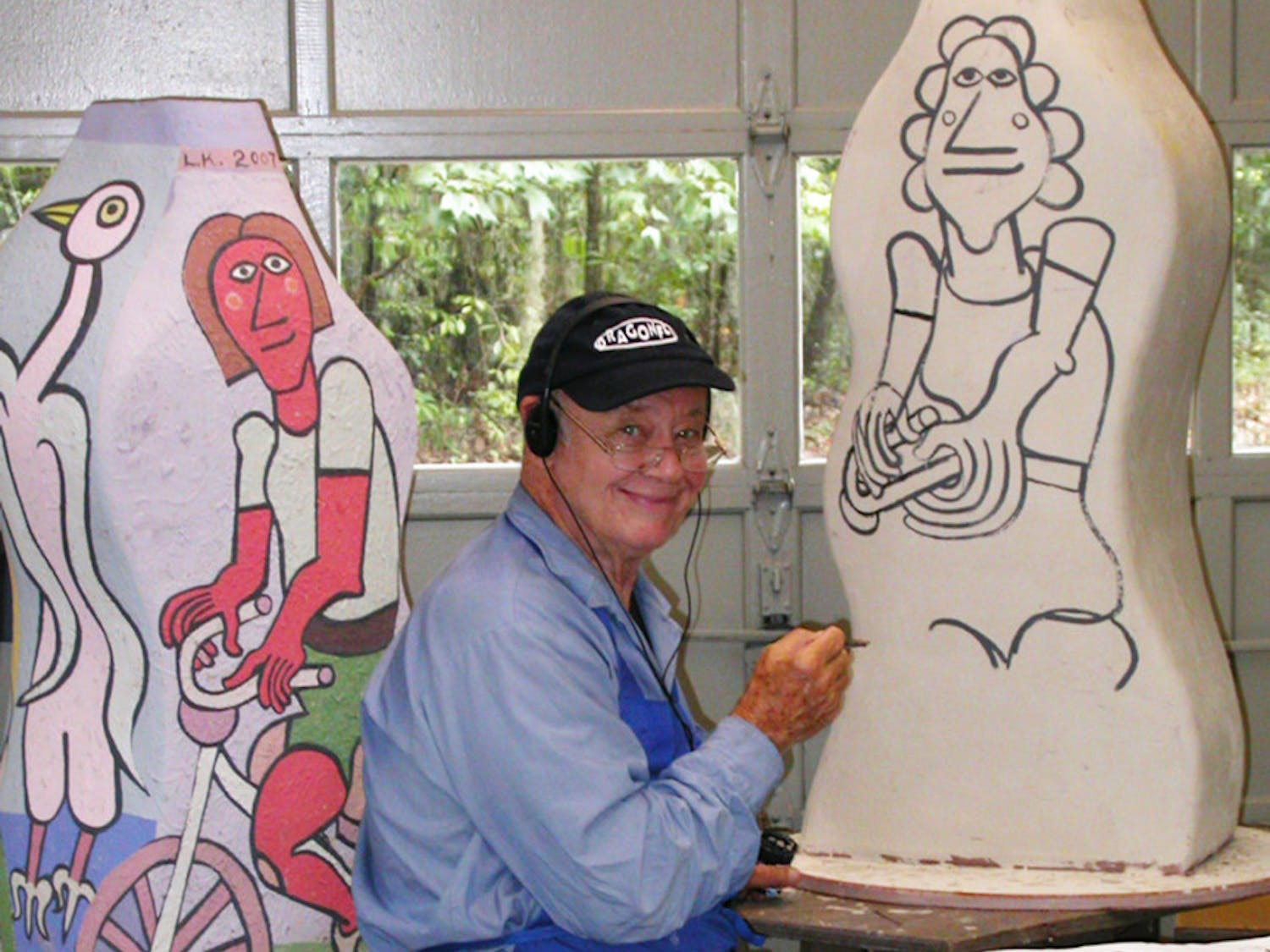 Gainesville artist Lennie Kesl's friends described him as energetic, friendly and passionate about art.