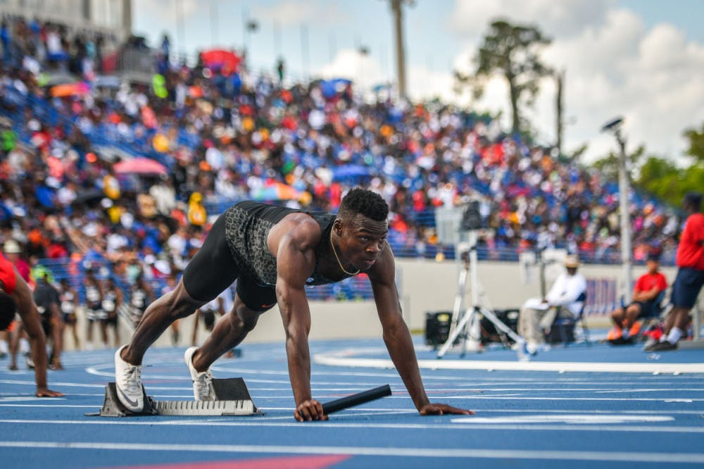 <p>Senior Raymond Ekevwo ran a season-best 6.84 in the 60m Sunday.</p>