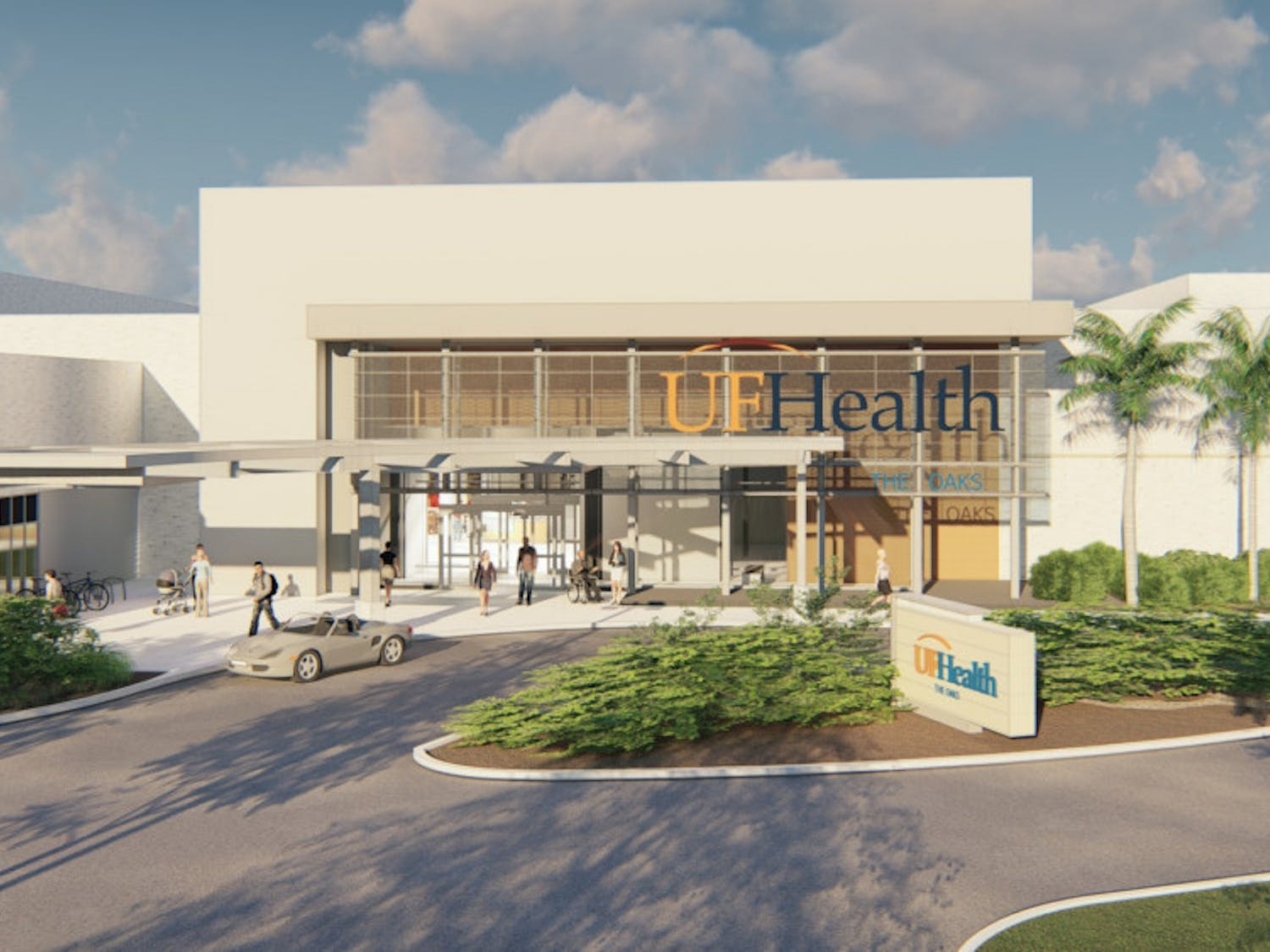 A rendering of the UF Health The Oaks, which is scheduled to open in January 2020 in the former Sears in the Oaks Mall. The UF Board of Trustees approved $73 million for the project. Courtesy to The Alligator.