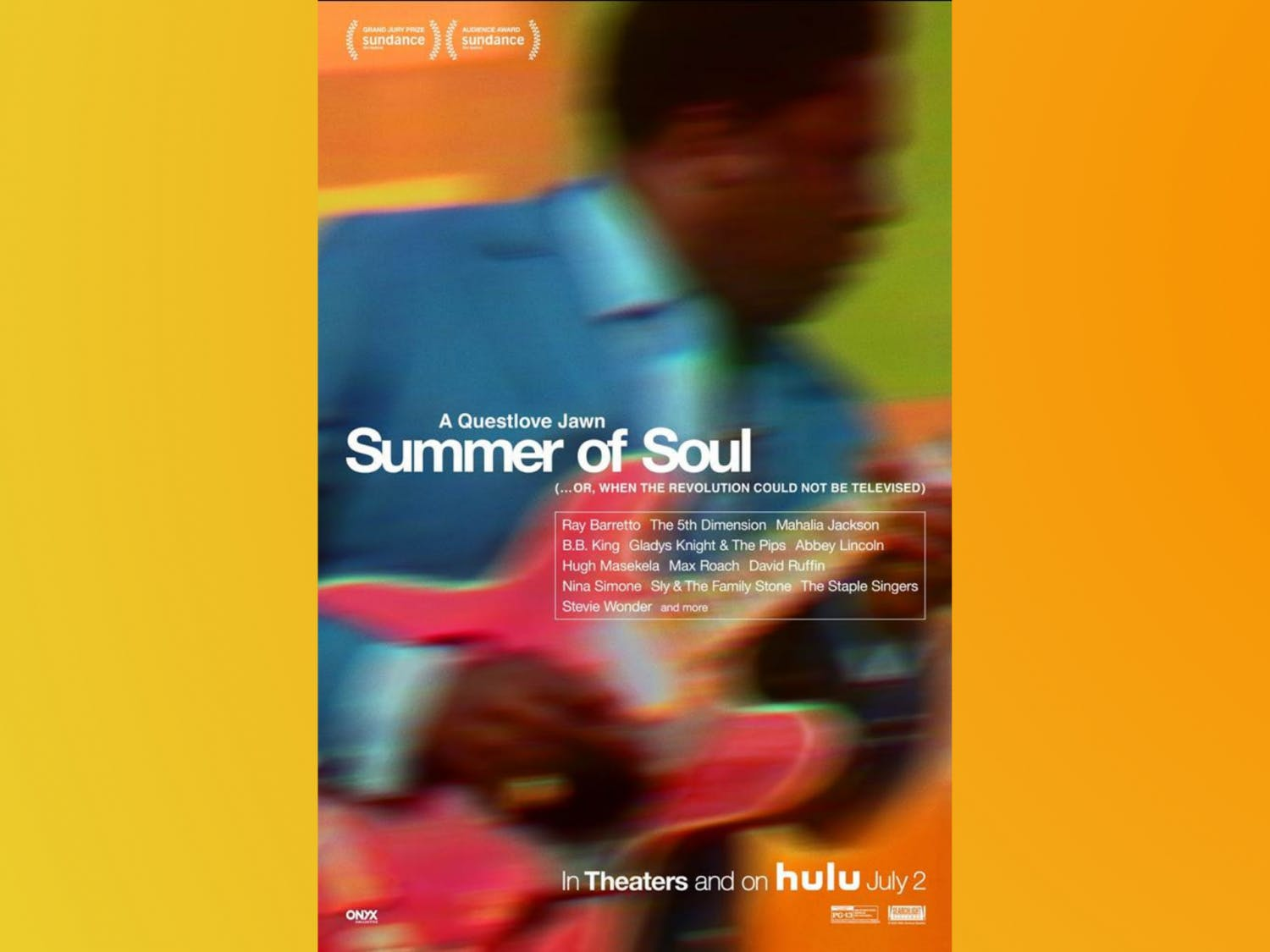 """Ahmir """"Questlove"""" Thompson's film directorial debut """"Summer of Soul (...Or, When the Revolution Could Not Be Televised)"""" had a limited theatrical release in the U.S. on June 25 and expanded a week later to theaters and on Hulu. (Movie poster retrieved from IMDb)"""