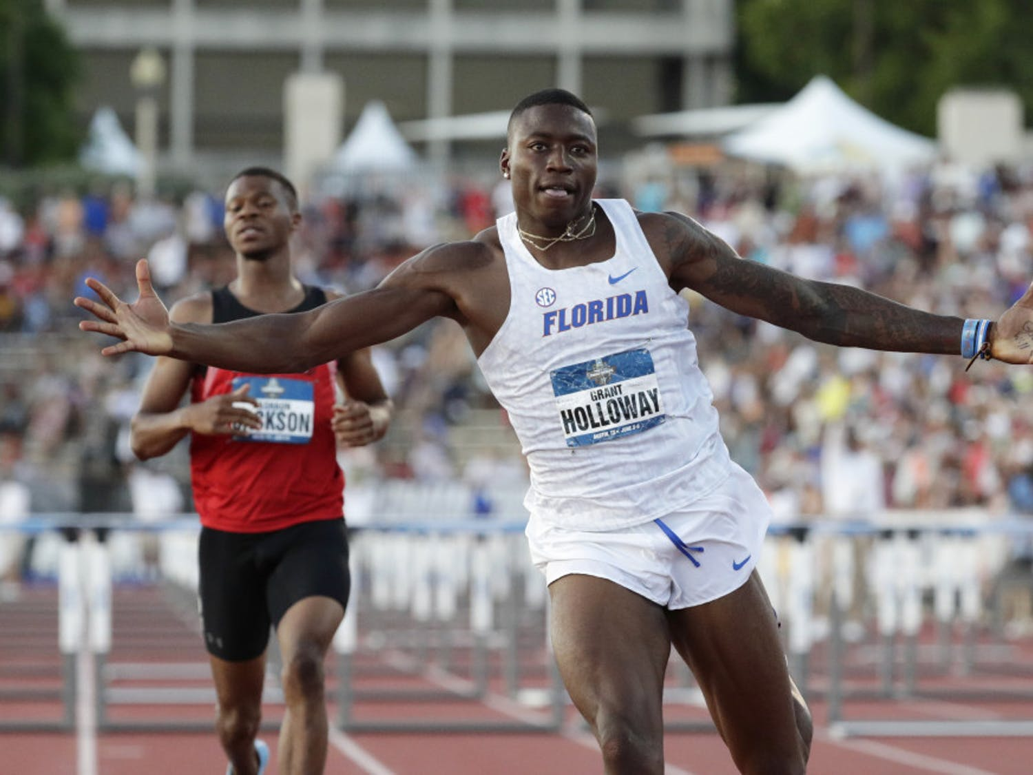 Grant Holloway became the first collegiate athlete to break the 13-second mark in the 110-meter hurdle with his time of 12.98 seconds over the weekend.