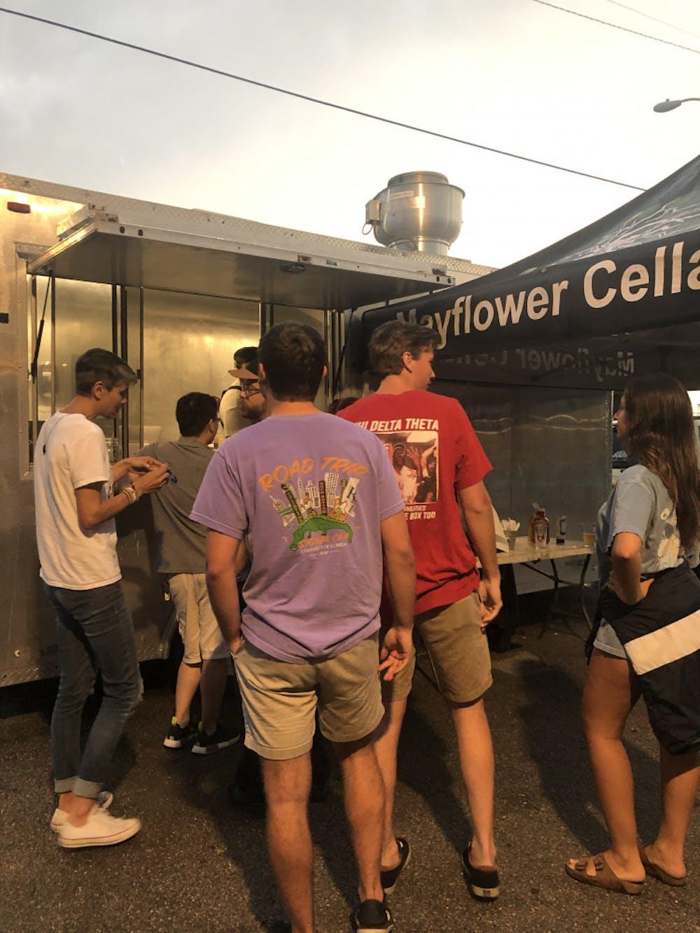 <p><span>Mayflower Cellars restaurant frequently posts food trucks throughout Gainesville.</span></p>