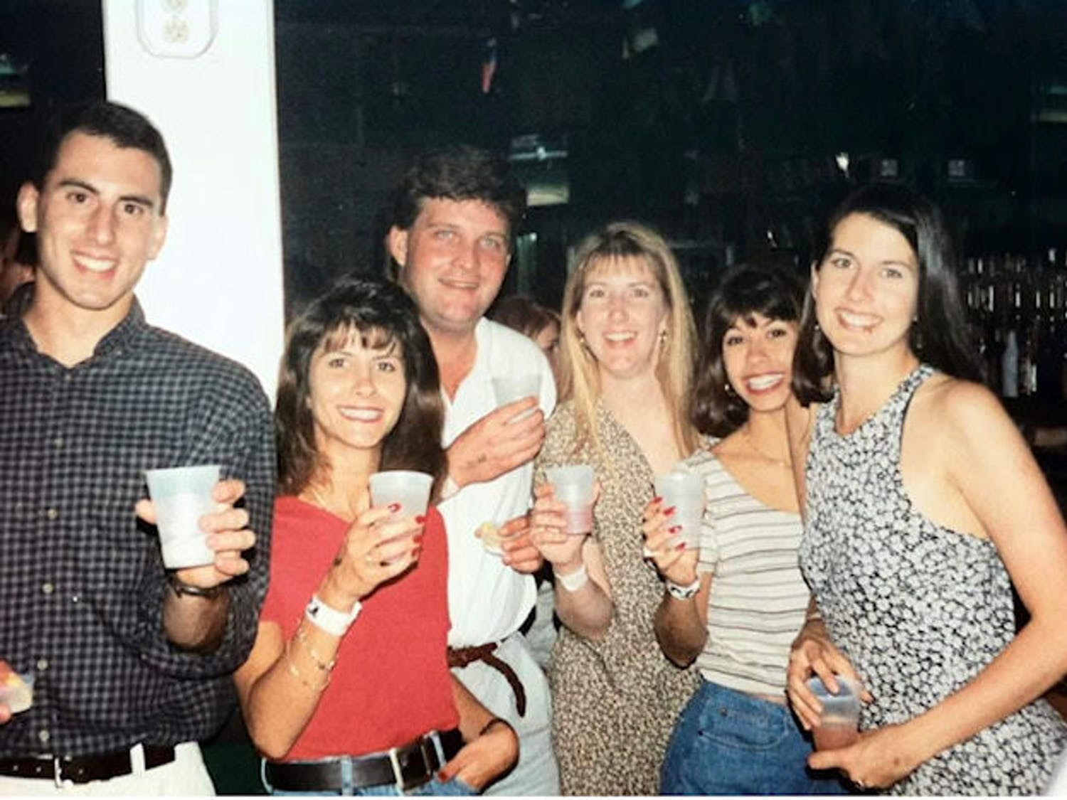 Previous owner Kim Cinque (far right) and friends at Silver Q Billiards & Sports Bar in 1994.
