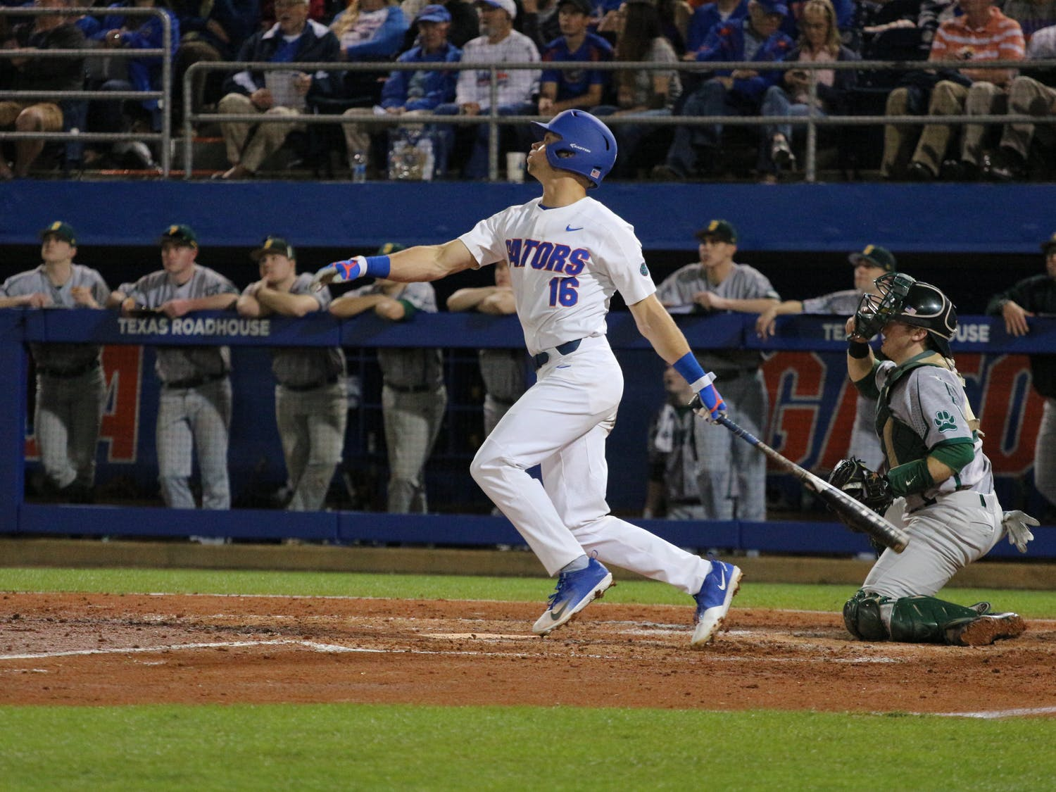 Right fielder Wil Dalton registered the game-winning RBI in UF's 7-6 win over Georgia on Friday night.