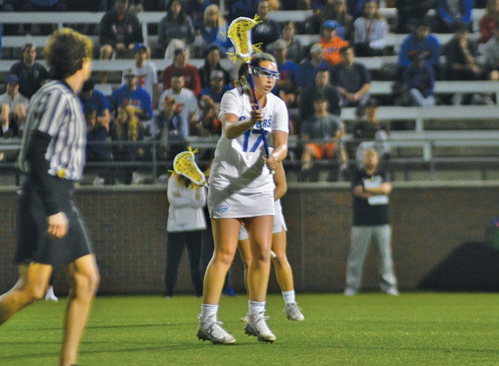 """<p dir=""""ltr""""><span>Midfielder Shannon Kavanagh recorded a career-high eight points and 13 draw controls in Florida's 16-5 win over UConn on Saturday.</span></p> <p><span>&nbsp;</span></p>"""