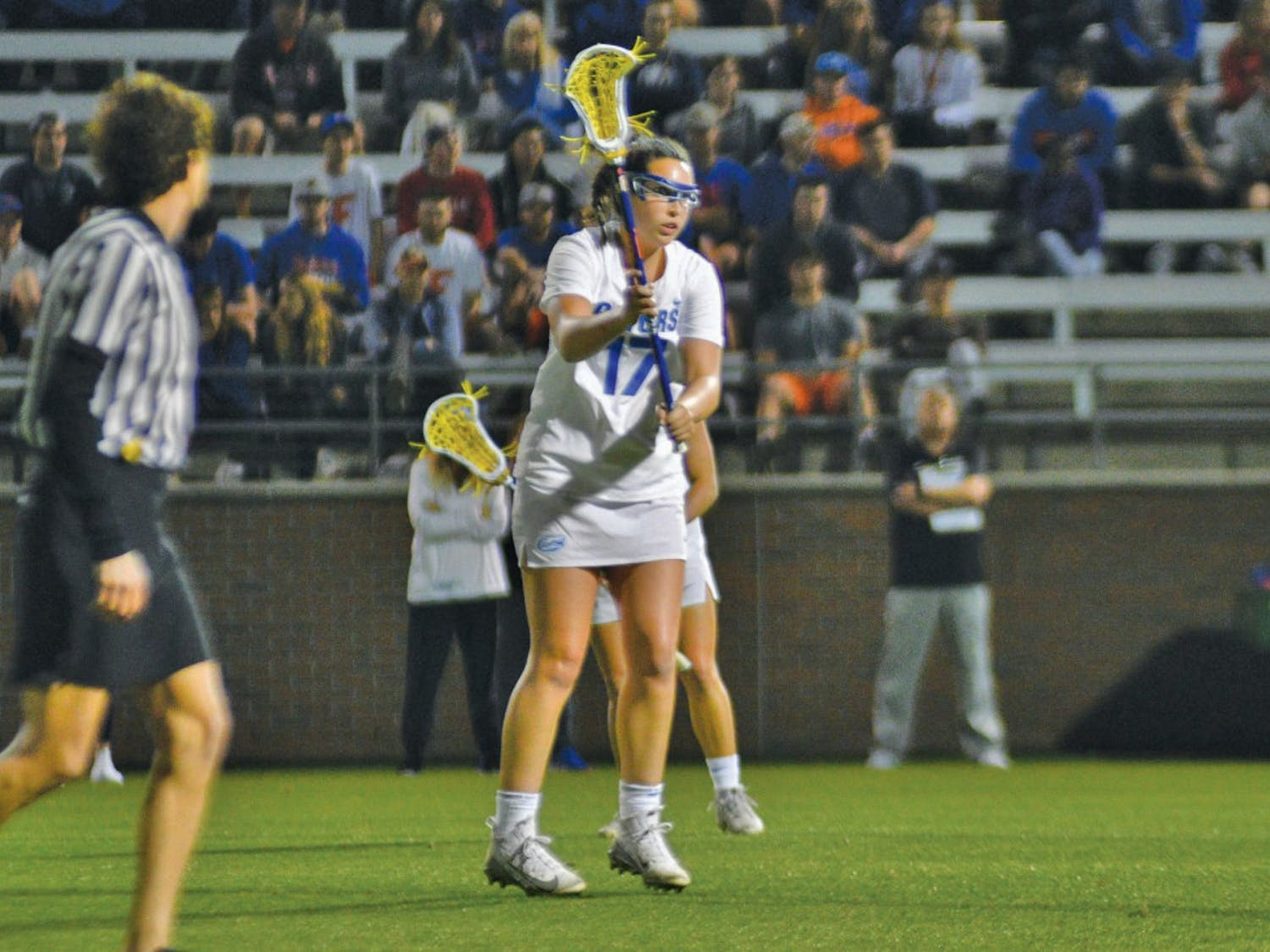 Midfielder Shannon Kavanagh recorded a career-high eight points and 13 draw controls in Florida's 16-5 win over UConn on Saturday.