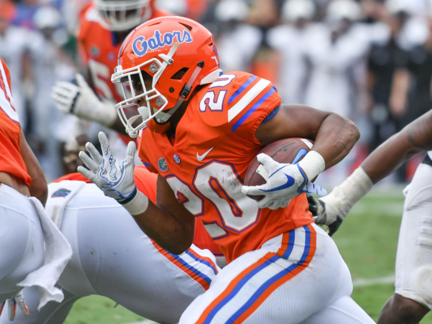 Malik Davis (pictured) and the Florida running backs are ready to take on the 2021 season by committee, running backs and special teams coach Greg Knox said Wednesday.