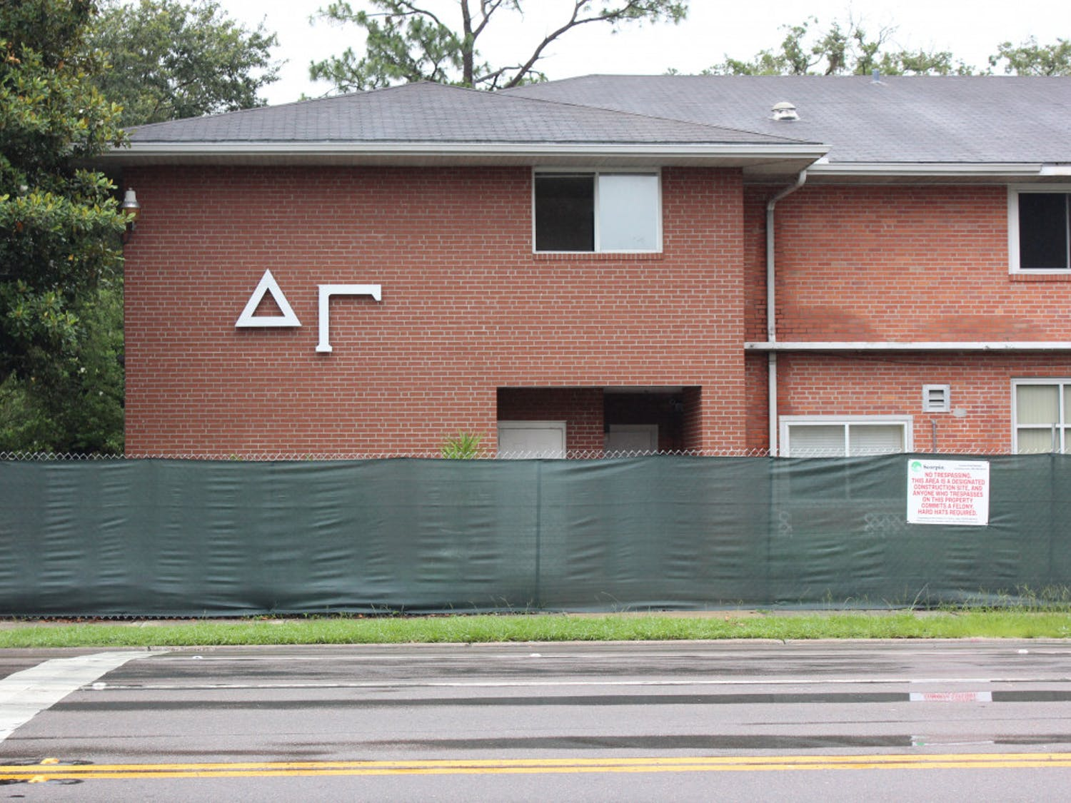 Delta Gamma's house on 13th street is under construction.