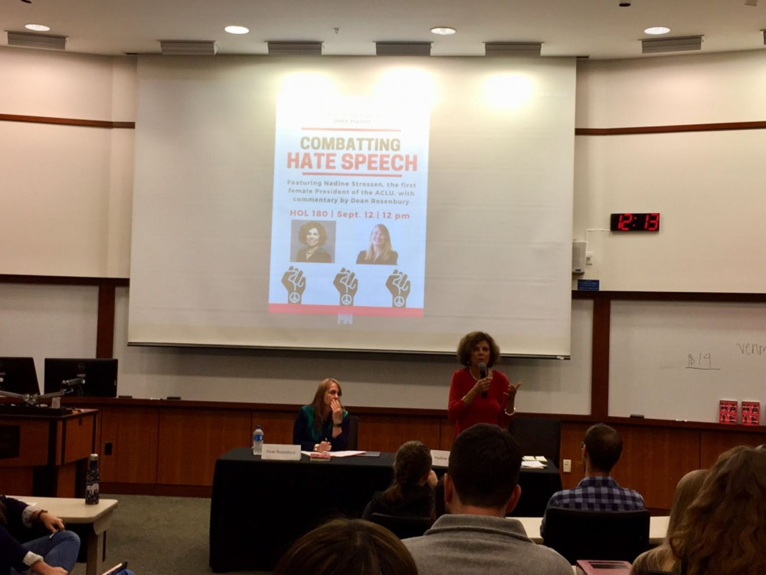Former ACLU president Nadine Strossen talks about free speech at the UF Levin College of Law