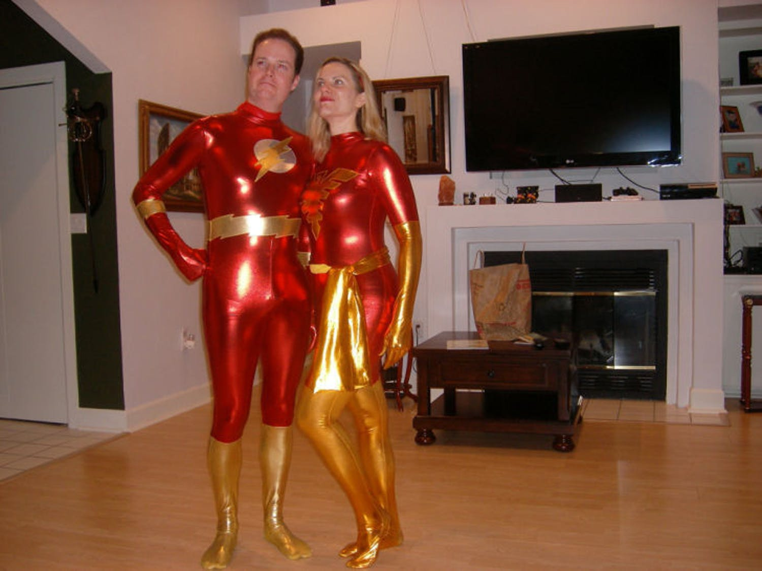 Congressional candidate Jake Rush and his wife, Anne, pose in live action role-playing outfits.