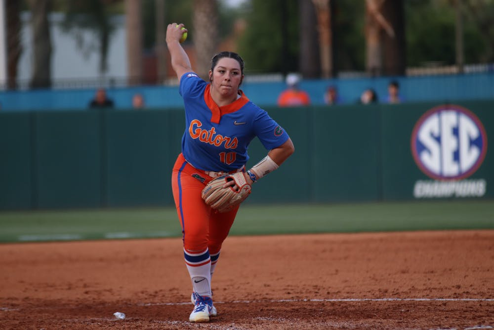 Florida pitcher Natalie Lugo pitches against South Carolina April 24. Lugo got the start but Georgia got the win Friday in the first game of the Super Regional.