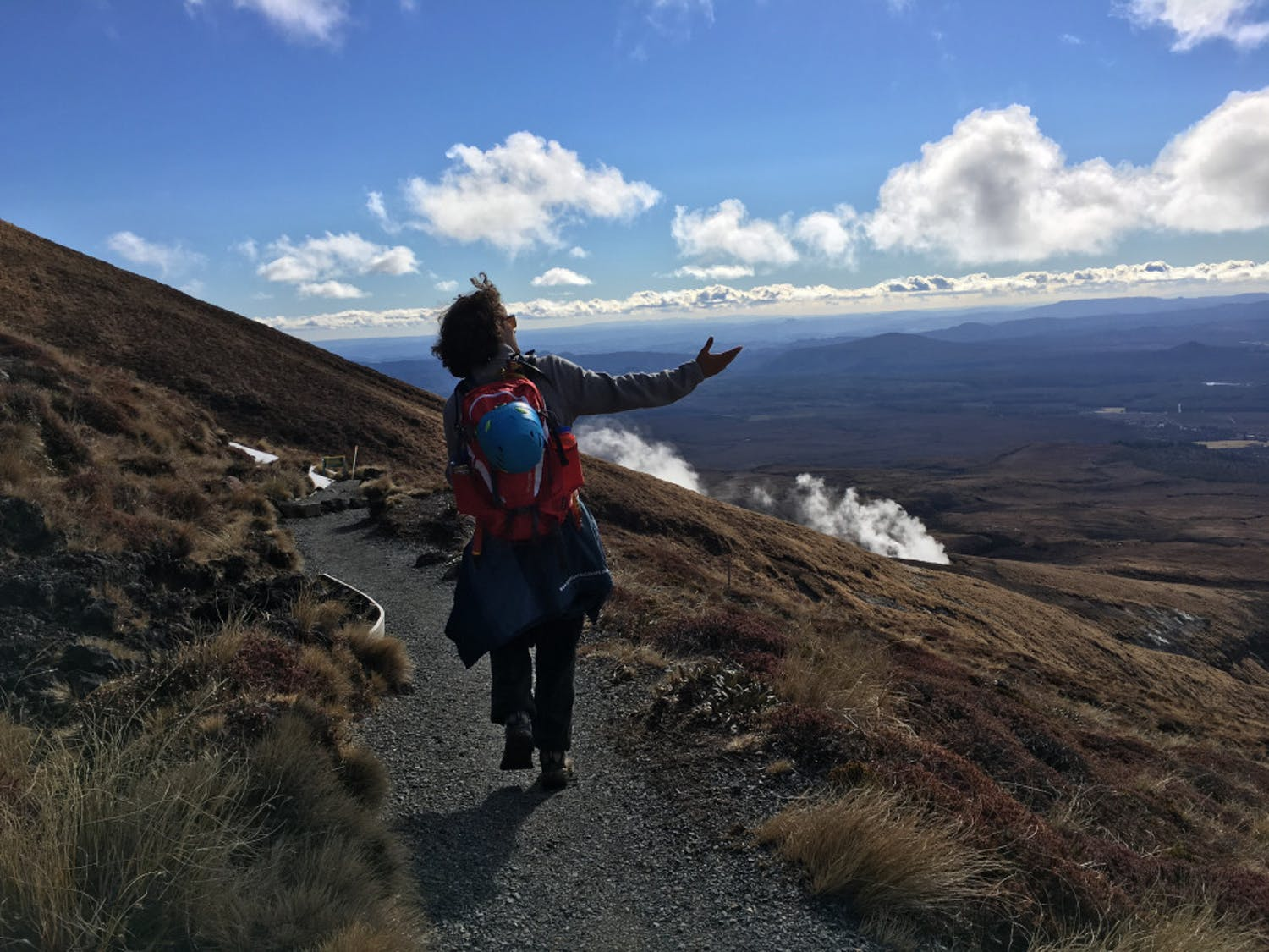 David DiMauro, a 22-year-old UF biology senior, ascends the Tongariro Alpine Crossing in New Zealand during Summer 2017. He will guide a hike up five mountains over Spring Break.
