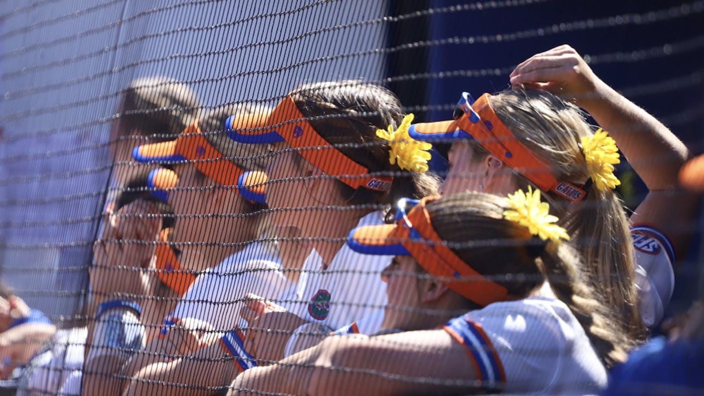 Sunflower Saturday softball dugout