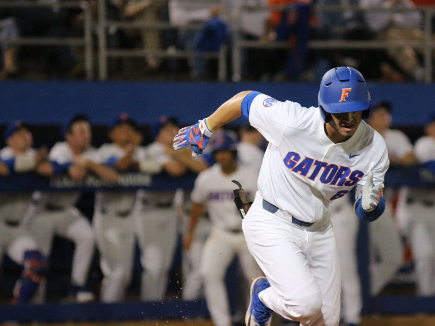 UF third baseman Jonathan India's solo home run jump-started the Gators' offense on a 3-2 win against Jacksonville at the Gainesville Regional. His solo home run was one of three for Florida on the night.