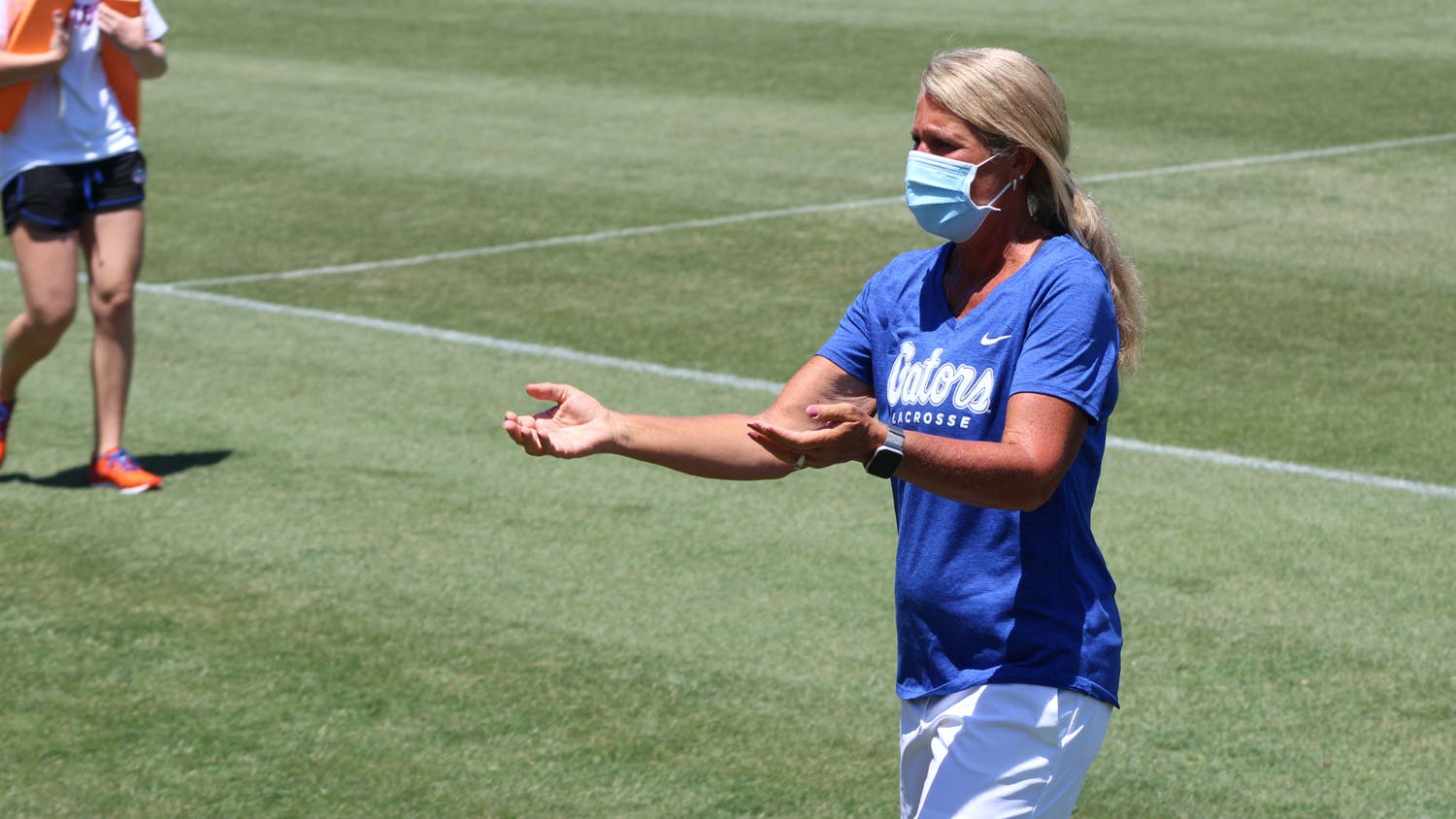 UF lacrosse head coach Amanda O'Leary. The Gators added transfer Catherine Flaherty to their roster Wednesday.