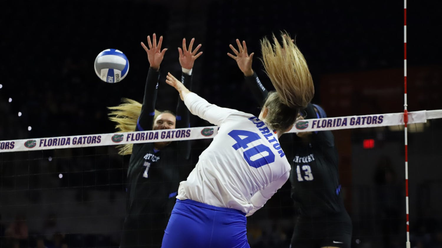 UF redshirt senior Holly Carlton highlighted her team's focus on controlling serves.