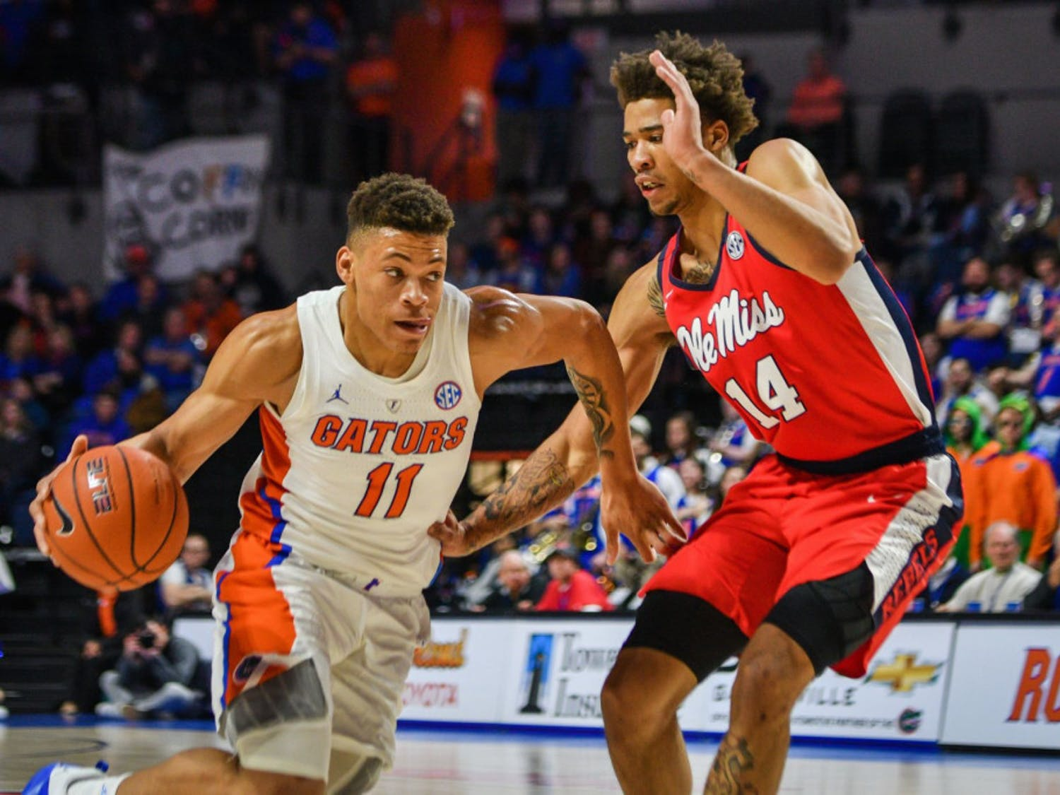 Freshman forward Keyontae Johnson made his fourth career start against Ole Miss on Wednesday. He finished with 15 points and six rebounds in the Gators' 90-86 overtime win over the Rebels.