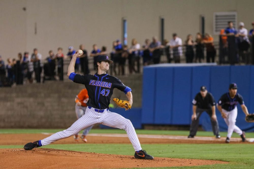 <p>Junior Tommy Mace registered a 1.67 ERA in four appearances during an abridged 2020 campaign</p>