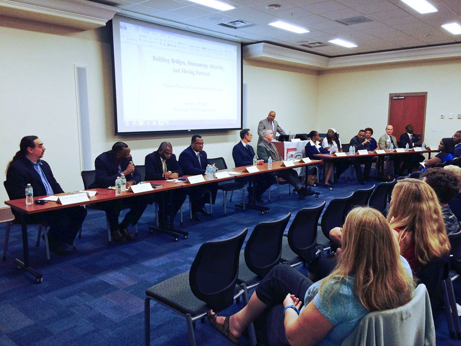 The Building Bridges, Overcoming Adversity And Moving Forward panel on Thursday highlighted discrimination in Gainesville.