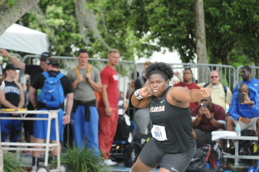 <p>Senior thrower Lloydricia Cameron became the first Gator since 2004 to advance to the NCAA Outdoor Championships in both the shot put and discuss.</p>