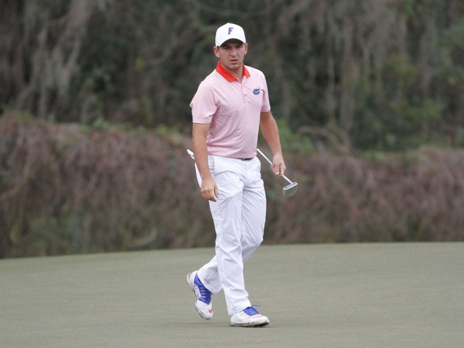Senior Alejandro Tosti is struggling at the SEC Championship despite being the returning individual champion. He shot 6-over-par on the first day of competition.