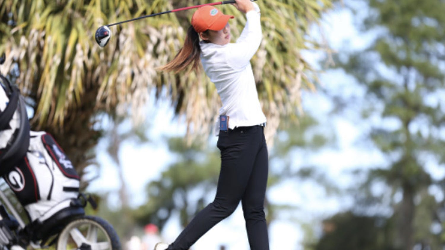 Jenny Kim follows through during the Gators Invitational Feb. 22