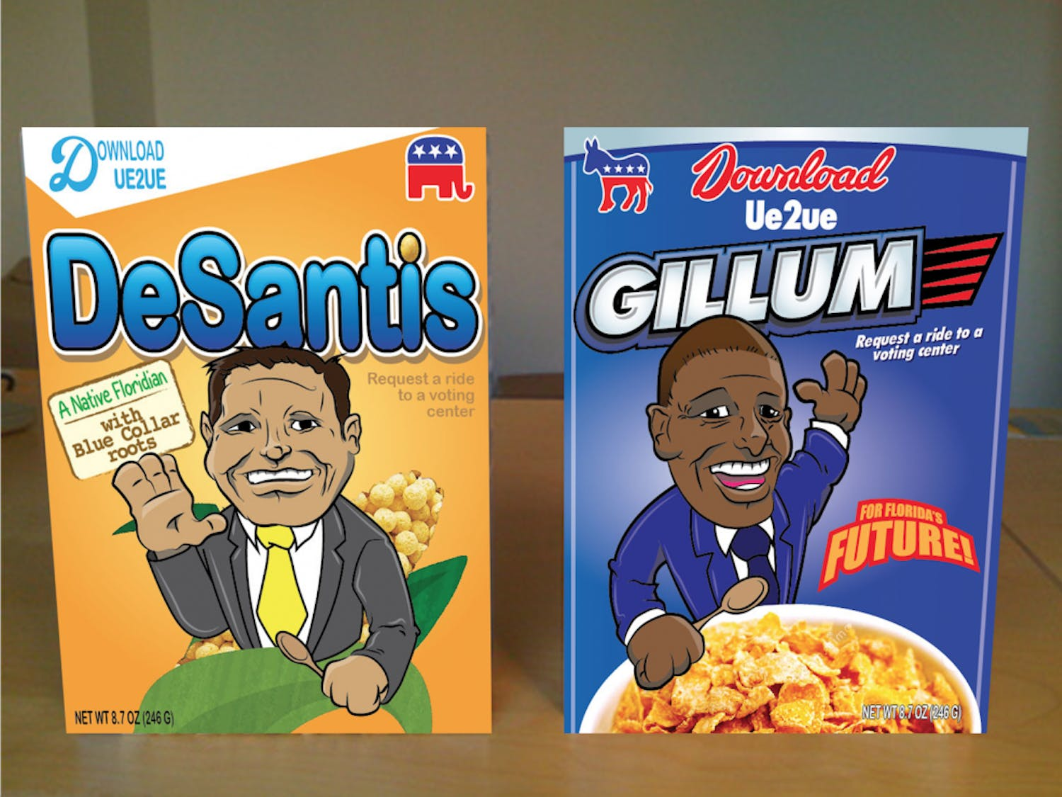 The governor-themed cereal boxes designed for anyone who donates more than $40